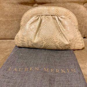 Embossed Gold Lauren Merkin Clutch